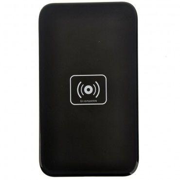 """Bezdrátová QI nabíjecí stanice """"DC-X5"""" pro všechna QI podporovaná mobilní zařízení - černá"""