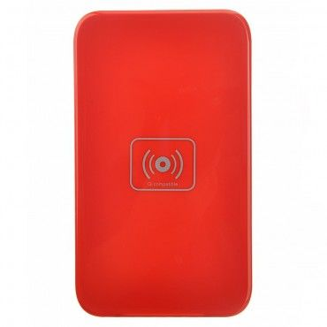 """Bezdrátová QI nabíjecí stanice """"DC-X5"""" pro všechna mobilní zařízení podporující QI - červená"""