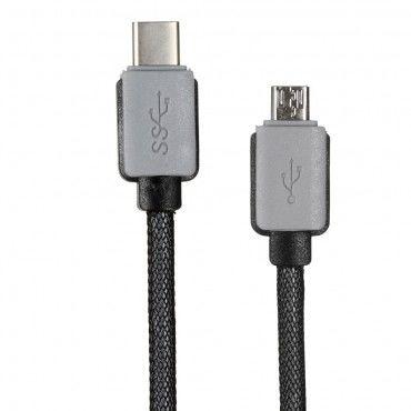 USB-C na microUSB nabíjecí a datový kabel 1 m