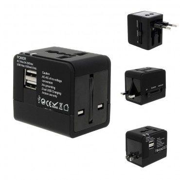 Cestovní adaptér s dvěma USB porty