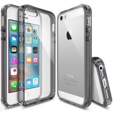 """Kryt Ringke """"Fusion"""" pro iPhone SE / 5 / 5S - smoke black"""