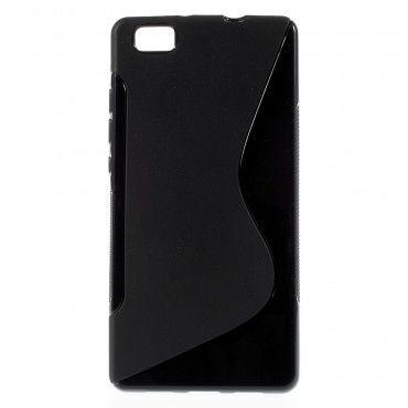 "Kryt TPU gel ""S-Line"" pro Huawei P8 Lite - černý"
