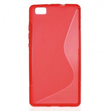 """TPU gelový obal """"S-Line"""" Huawei P8 Lite - červený"""