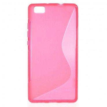 """TPU gelový obal """"S-Line"""" Huawei P8 Lite - růžový"""