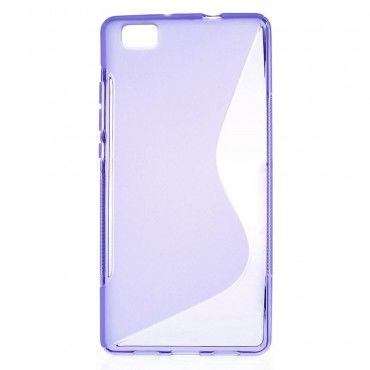 "TPU gelový obal ""S-Line"" Huawei P8 Lite - fialový"
