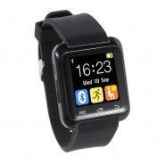 """Chytré bluetooth hodinky """"U-Tech"""" pro zařízení android -– v černé barvě"""