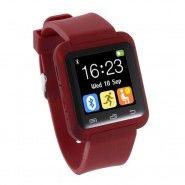 """Chytré bluetooth hodinky """"U-Tech"""" pro zařízení android - červené barvě"""
