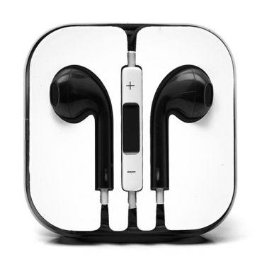 Sluchátka do uší s ovladačem a mikrofonem – černá