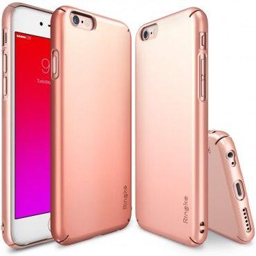 """Obal Ringke """"Slim"""" pro iPhone 6 / 6S - růžově zlatý"""