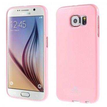 Kryt TPU gel Goospery Jelly Case pro Samsung Galaxy S6 - růžový