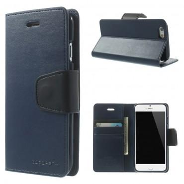 Elegantní pouzdro Goospery Sonata pro iPhone 6 / 6S - tmavě modrý