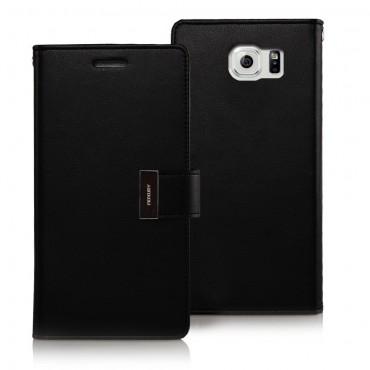Elegantní pouzdro Goospery Rich Diary pro Samsung Galaxy S6 - černý