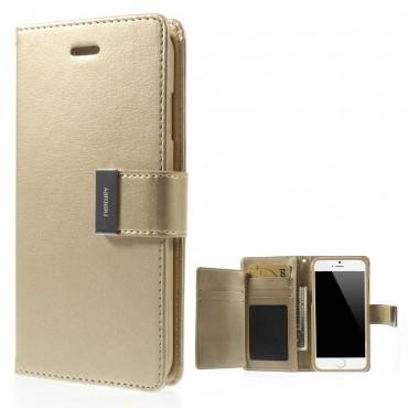 Elegantní kryt Goospery Rich Diary pro iPhone 6 / 6S - zlaté barvy