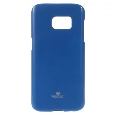 TPU gelový obal Goospery Jelly Case Samsung Galaxy S7 - tmavě modrý