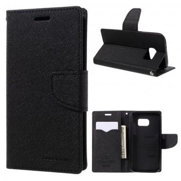 Pouzdro Goospery Fancy Diary pro Samsung Galaxy S7 - černé