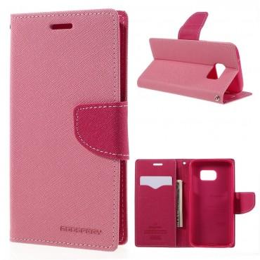 Pouzdro Goospery Fancy Diary pro Samsung Galaxy S7 - růžové