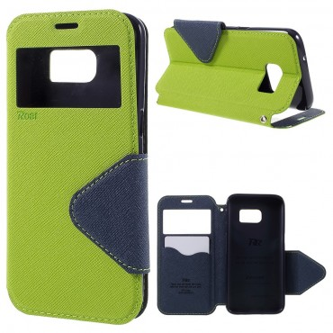"""Módní kryt """"Foldly"""" pro Samsung Galaxy S7 zelený"""