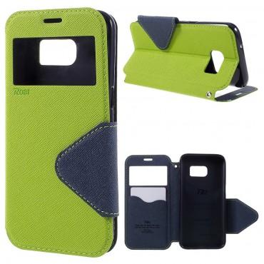 """Módní pouzdro """"Foldly"""" pro Samsung Galaxy S7 - zelené"""