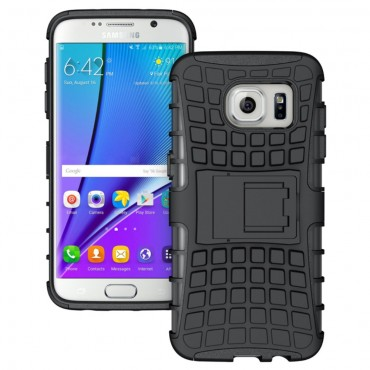 "Hybridní gelový TPU obal ""Tough"" pro Samsung Galaxy S7 Edge - černý"