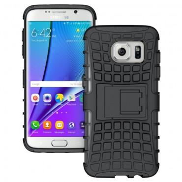 """Hybridní kryt TPU gel """"Tough"""" pro Samsung Galaxy S7 Edge - černé"""