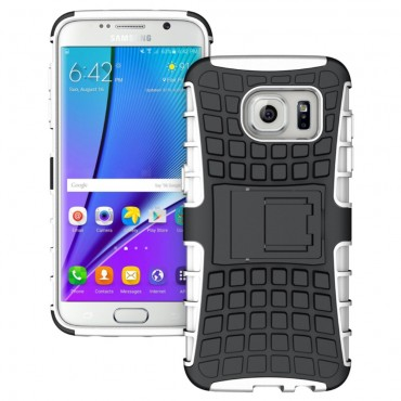 "Hybridní gelový TPU obal ""Tough"" pro Samsung Galaxy S7 Edge - bílý"
