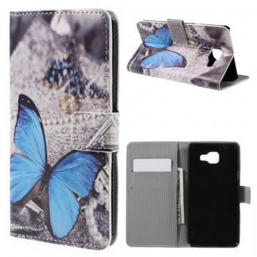 """Módní pouzdro """"Blue Butterfly"""" pro Samsung Galaxy A5 2016"""