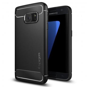 "Kryt Spigen ""Rugged Armor"" pro Samsung Galaxy S7 - black"