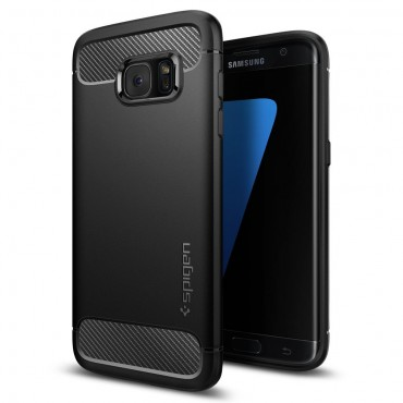 "Kryt Spigen ""Rugged Armor"" pro Samsung Galaxy S7 Edge - black"