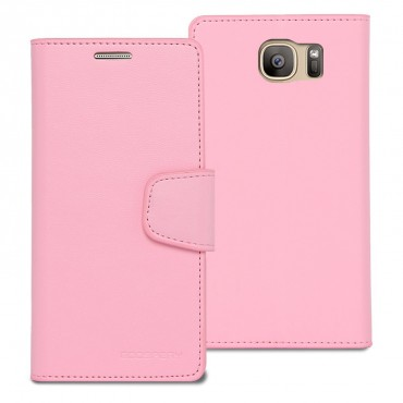 Elegantní kryt Goospery Sonata pro Samsung Galaxy S7 Edge - růžový