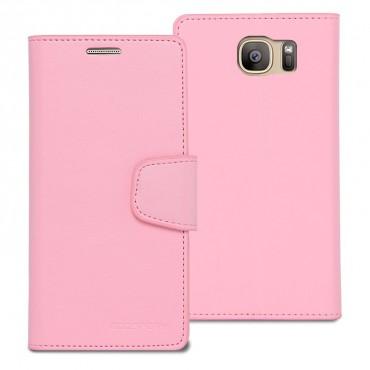 Elegantní pouzdro Goospery Sonata pro Galaxy S7 Edge - pink