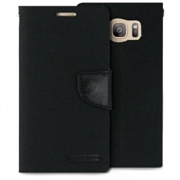 Pouzdro Goospery Canvas Diary pro Samsung Galaxy S7 Edge - černý