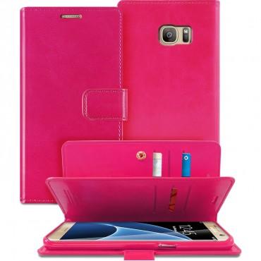 Pouzdro Goospery Mansoor Diary pro Samsung Galaxy S7 Edge - magenta