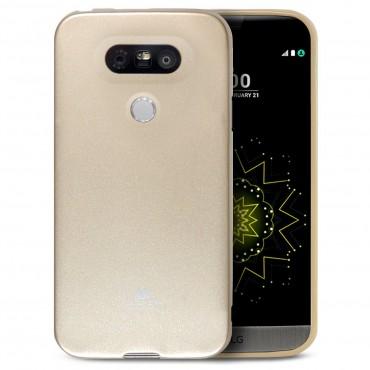 TPU gelový obal Goospery Jelly Case LG G5 - zlaté barvy
