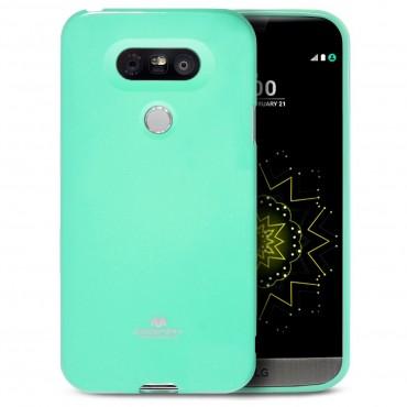 TPU gelový obal Goospery Jelly Case pro LG G5 - mátový
