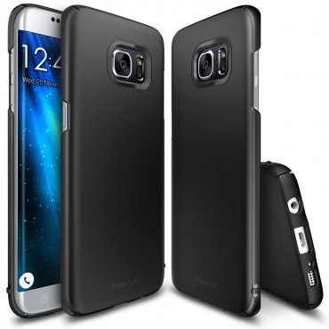 "Obal Ringke ""Slim"" pro Samsung Galaxy S7 Edge - tmavě černý"