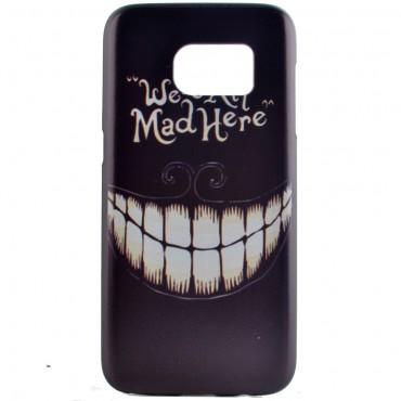 "Pevný kryt TPU ""Mad Smile"" pro Samsung Galaxy S7"