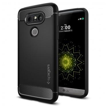 """Kryt Spigen """"Rugged Armor"""" pro LG G5 - black"""