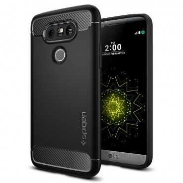 "Obal Spigen ""Rugged Armor"" pro LG G5 - černý"