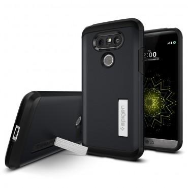 """Obal Spigen """"Tough Armor"""" pro LG G5 - kovově černý"""
