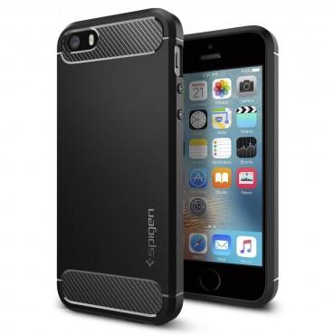 """Obal Spigen """"Rugged Armor"""" pro iPhone SE / 5 / 5S"""