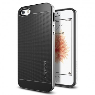 "Kryt Spigen ""Neo Hybrid"" pro iPhone SE / 5 / 5S - satin silver"