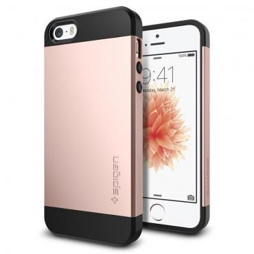 """Obal Spigen """"Slim Armor"""" pro iPhone SE / 5 / 5S - růžově zlatý"""