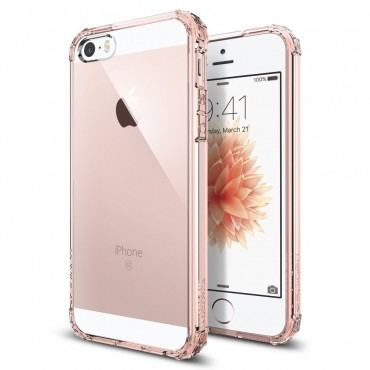 "Kryt Spigen ""Crystal Shell"" pro iPhone SE / 5 / 5S - rose crystal"