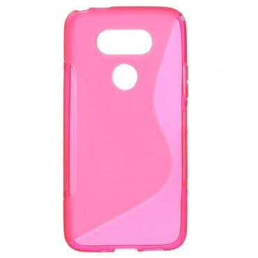 "Kryt TPU gel ""S-Line"" pro LG G5 - růžový"