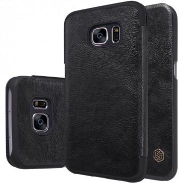 """Elegantní pouzdro """"Qin"""" pro Samsung Galaxy S7 - černé"""