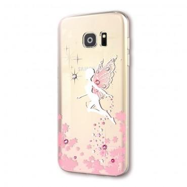 """Prémiový obal s krystaly Swarovski """"Fairy"""" pro Samsung Galaxy S7 - růžový"""