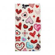 """Módní pouzdro """"Hearts"""" pro LG K8"""