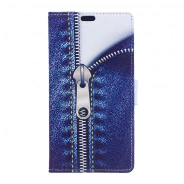 """Módní kryt """"Jeans Zipper"""" pro LG K8"""