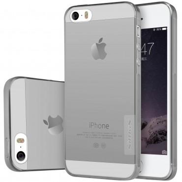"""Prémiový tenký obal """"Nature"""" iPhone SE / 5 / 5S - šedý"""