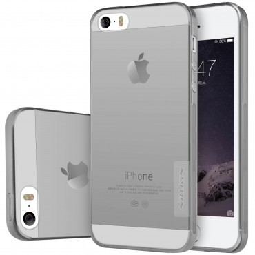 "Premium tenký kryt ""Nature"" pro iPhone SE / 5 / 5S - šedý"